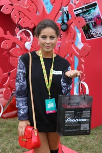 Louise Thompson Pictured Taking Part in the Pioneer Music Challenge at V...