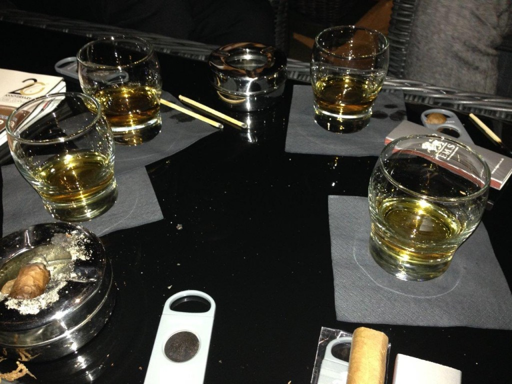 a selection of Plantation rum was sampled