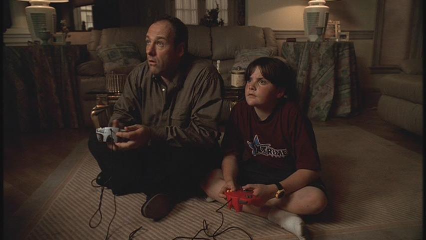 Tony Soprano and son AJ