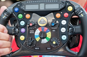 The coolest steering controls in the world - Lotus wheel